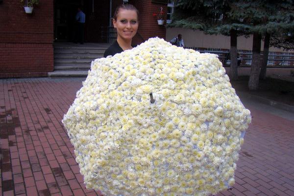 Учасниця конкурсу квітів - магістрантка Світлана Рибак