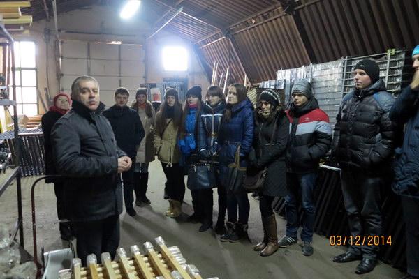 Екскурсія на виробництво кованих виробів