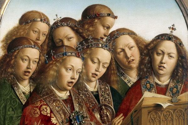 фрагмент полотна художника Яна ван Ейка епохи раннього Відродження